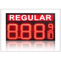 Wholesale IP68 LED Gas Station Sign / 4 digits number display with 110° Viewing angle , steel shell from china suppliers