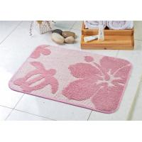 Wholesale Pink sakura flower Rectangular protective floor mats of 100% polyester microfiber from china suppliers