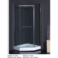 Wholesale ABS Handle curved  Corner Shower Enclosures Square Type OEM Available from china suppliers