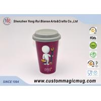 Wholesale Red Porcelain Beverage Thermos Starbucks Ceramic Travel Mug With Silicone Lids from china suppliers