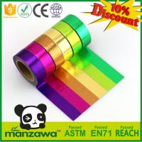 Wholesale 1.5cm*10m multicolor washi tape customizable size adhesive paper tape tear by hand removeable paper tape from china suppliers