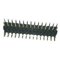 Wholesale Right Angle 2mm Pitch Connector , PA9T Black Double Row Header Connector from china suppliers