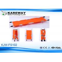 Wholesale Lightweight Aluminum Emergency Folding Stretcher With Orange Waterproof Fabric from china suppliers