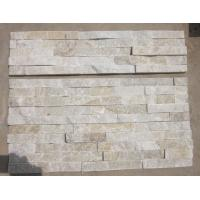 Wholesale Ivory Quartzite Stacked Stone,Milk White Quartzite Thin Stone Veneer,Off-White Quartz Culture Stone from china suppliers