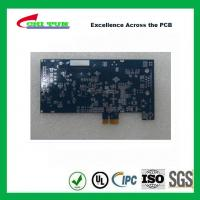 Quality Blue Multilayer PCB Board 6l fr4 1.6MM LF HASL + GOLD FINGER for sale
