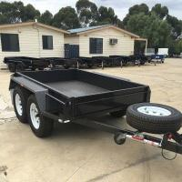 Wholesale High Side 10x6 Flatbed Tandem Box Trailer With Full Checker Plate from china suppliers