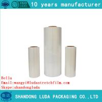 Wholesale HOT SALE! LLDPE handle stretch film SGS certified good quality PE plastic cling film from china suppliers