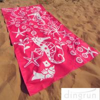 Wholesale Full Color Reactive Custom Printed Beach Towels Easy Carrying Eco Friendly from china suppliers