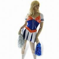 Wholesale Fancy Dress Costume, Cheerleader Costume, Includes Skirt and Pom Poms from china suppliers