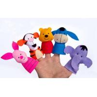 Wholesale Classical Disney Felt Plush Finger Puppets , Donkey / Tigger / Piglet / Pooh / Elephent from china suppliers