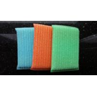 Wholesale Blue / Green / Orange Scrubbing Sponges By Sponge Fabric / Steel Wire from china suppliers