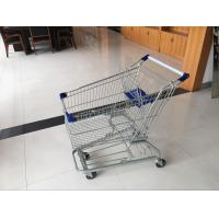 Wholesale 4 Swivel flat castors of Supermarket Shopping Cart Trolley with strong bottom tray from china suppliers