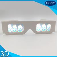 Wholesale PVC Circular Polarized 3D Glasses For Entertainment , Snow Man Diffraction Effect from china suppliers