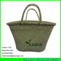 Quality LDSC-001 natural vintage basket beach bag 2016 cheap seagrass straw bags for sale