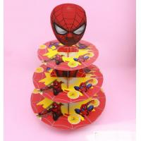 Wholesale 2 sets Spiderman birthday baby shower party cardboard cupcake stand hold 24 cupcakes from china suppliers