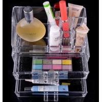 Wholesale Clear Acrylic Cosmetic Organizer, Lucite Makeup with drawer Acrylic Makeup Display Box from china suppliers