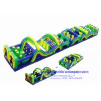 Wholesale Radical Run Bounce House Obstacle Course For Adults , Jumping Obstacle Course from china suppliers
