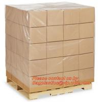 Wholesale LDPE Bin lliners Gaylord Liners Pallet Top Covers, 4 Mil Clear Pallet Covers, Customized plastic reusable pallet covers from china suppliers