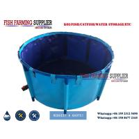 Pvc foldable above ground fish ponds for catfish tilapia for Above ground koi ponds for sale