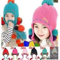 Wholesale Customizable beauty handmade crochet baby hat blue hats knit children products from china suppliers