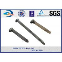 Wholesale Q235 / 35# Threaded Railroad Track Spikes 3/4''X'6'' ISO9001 / SGS from china suppliers
