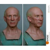 100% Hand Carving Full Body Wax Statue Pablo Picasso Wax Figure For Museum