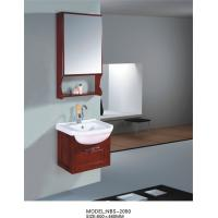 Wholesale 500 * 460mm wooden mirrored bathroom cabinet , round basin wooden hanging cabinet from china suppliers