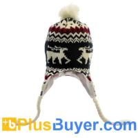 Wholesale Bobble Beanie Hat with Headphones and Braided Earflaps from china suppliers
