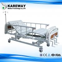 Wholesale Three Cranks Mechanical Hospital Bed With ABS Dining Table For Nursing Home from china suppliers