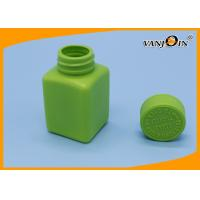Wholesale 100ml Green HDPE Square Plastic Pharmacy Bottles 100ml for Pill Medicine Packaging from china suppliers