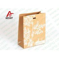 Wholesale Silk Screen Printing Brown Kraft Paper Gift Bags , Die Cut Rope Paper Goody Bags from china suppliers