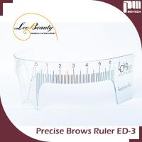 Wholesale Reuse 3D Eyebrow Shaping Tools Precise Permanent Makeup Eyebrow Ruler With Clear Line from china suppliers