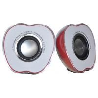 Wholesale 2.0 Ch Portable USB Powered Computer Speakers , Apple Shape Wired Computer Speakers from china suppliers