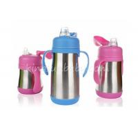 Wholesale Vacuum Red Stainless Steel Baby Bottle For Infant Nursing Non Spill Leak Proof Straw Lid from china suppliers