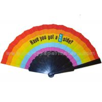 Buy cheap Popular Printed Fabric Folding Fan , Personalized Hand Held Wedding Fan from wholesalers