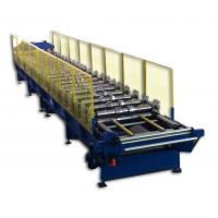 Wholesale 0.35- 0.8mm Trapezoid Panel Wall Roll Forming Machine with Hydraulic Cutting from china suppliers