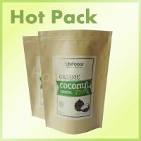 Wholesale Coconut Sugar Kraft Brown Paper Bags With Zipper Foil Lined , Resealable Food Pouches from china suppliers