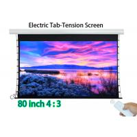 Wholesale Flat 80 Inch Hd Projector Screen , Tab Tension Wall Mount Projector Screen from china suppliers