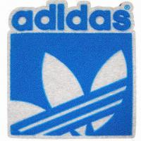 China Embroidered badge/iron-on patch/sew-on emblem, customized designs are accepted on sale