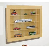Wholesale Wooden Wall Mounted Display Cabinet , wall mount art display cases from china suppliers