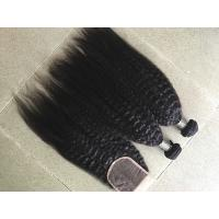 Wholesale Coarse Yaki Real Peruvian Human Hair Weave Kinky Straight Hair Extensions from china suppliers