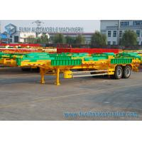 Wholesale 65T Terminal Frame Container Flatbed Semi Trailer 40 ft 2 Lines Skeleton from china suppliers