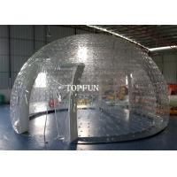 Wholesale Clear PVC Double Layers Inflatable Bubble Tent 8m Diameter Exhibition from china suppliers