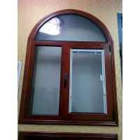 Wholesale Wooden Grain Painted Aluminium Commercial Windows Tilt Turn Louver Window Design from china suppliers