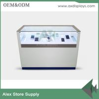 Wholesale Customized glass mobile counter design cabinet mobile display showcase from china suppliers
