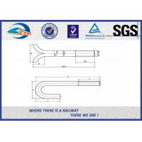 Wholesale Galvanized Special Railway Sleeper Bolts And Nuts Square U Type from china suppliers