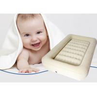 Fantastic Beige Kids Travel Flocked Air Bed Inflatable Child Size Air Mattress