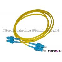 Wholesale Customized Fiber Optic Jumper SC SC Duplex Patch Cord With Letter Cable Ring from china suppliers