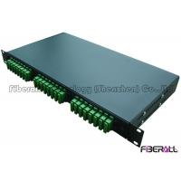 Wholesale SC APC Duplex Type Fiber Distribution Patch Panel With 24 Pieces Optical Adapter from china suppliers