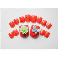 Wholesale Flower and Butterfly 3D False Nails kits , Gel Artificial Nails / Fake Nails for Kids from china suppliers
